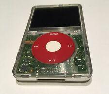 512GB iPod Classic Transparent Red - 7th Generation - Tarkan iFlash / microSDXC