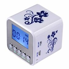 Mini Portable Speaker Micro SD/TF Music MP3/4 Player USB FM Radio Printed Flower