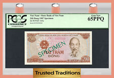 "TT PK 100s 1987 VIET NAM 200 DONG ""HO CHI MINH"" ""SPECIMEN"" PCGS 65 PPQ GEM NEW!"