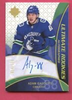 ADAM GAUDETTE 2018-19 ULTIMATE COLLECTION RETRO ROOKIE AUTOGRAPH SP #'d 014/175