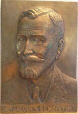 PORTRAIT BRONZE.SENATEUR JACQUES BENOIST.1881.1967.PAR M.JACQUIN.SUSSE FONDEUR.