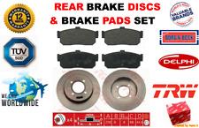 FOR NISSAN 100NX SUNNY MK3 2.0 GTI 1990-2000 REAR BRAKE DISCS + BRAKE PADS SET