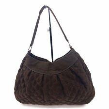 VERA BRADLEY Womens Chocolate Brown Quilted Shoulder Satchel Purse Handbag
