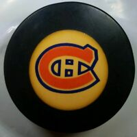 NHA BAUER APPROVED MONTREAL CANADIENS HABS HOCKEY PUCK MADE IN CZECHOSLOVAKIA