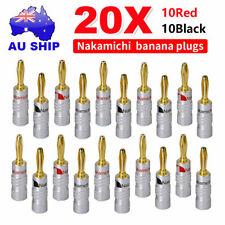 20x 24K Speaker Nakamichi Wire Connector banana plugs Plated speaker terminals