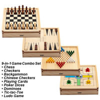 Chess, Checkers, Backgammon, Chinese Checkers, Poker Dices, Dominoes, Ludo Games