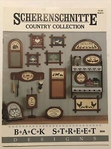 Scherenschnitte Country Collection Paper Cutting Pattern Book -Free Shipping