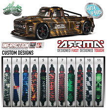 *CUSTOM* 1/7 Arrma Limitless / Infraction Shock Covers - boots - wraps - 4pcs