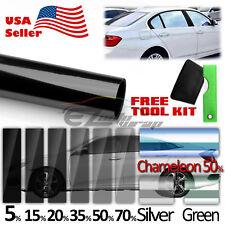 """20""""x120"""" Uncut Roll Window Charcoal Black Tint Film Car Glass VLT 70%"""