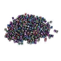 500Pcs Letter Alphabet Acrylic Beads For Bracelet DIY Jewelry A-Z Single Letter