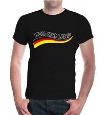 Herren Unisex Kurzarm T-Shirt Deutschland-Wave Fanshirt Germany Flagge flag