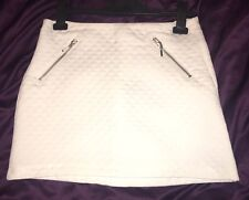 H&M White Quilted Mini Skirt