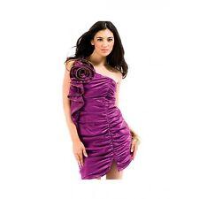 Forever Unique Miranda Purple Corsage One Shoulder Evening Occasion Dress 12
