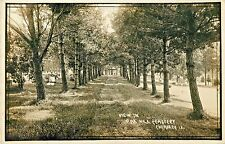 The View In Oak Hill Cemetery, Cherokee IA RPPC 1944