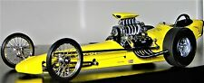 Dragster 1 Drag Racing Coche De Carreras 18 1960s Hot Rod 24 Carousel AMARILLO