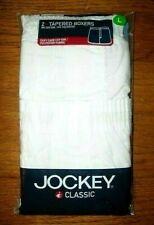 NIP Men's Jockey Boxer Shorts Underwear Tapered Classic 2-Pack White 2003 Large