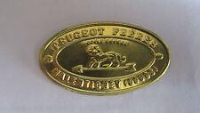 grand ecusson logo plaque moulin  cafe peugeot freres.