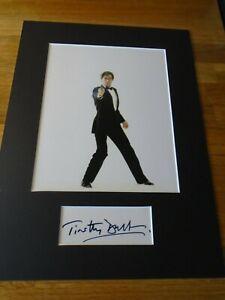 Timothy Dalton James Bond Genuine Signed Authentic Autograph - UACC / AFTAL.