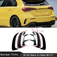 Mercedes Benz A Class W177 Rear Bumper Fender Stickers Trim Cover Car Styling