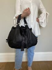 Black Slouchy Hobo Washed Leather Bag Made in Italy Premium Quality