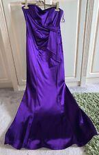 Ladies Womens Girls Coast Formal Evening Prom Dress Silk Purple Fishtail Size 10