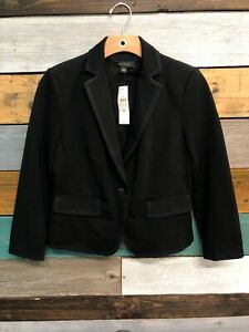 Ann Taylor **NEW With Tags** Womens Size 6 Black Single Button Front Blazer
