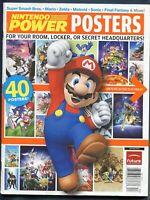 2008 Nintendo Power 40 Posters Magazine Mario Zelda Metroid Sonic Poster Book