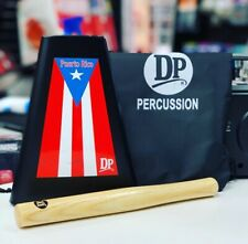 Handheld Cowbell Puerto Rico Flag stick and bag included Cencerro 8�