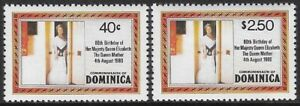 Dominica 1980 Queen Mother 80th Birthday (2), Sc #676-77 - c72.17
