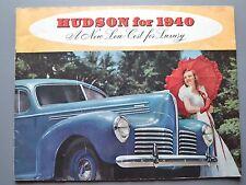 ✇ HUDSON SIX EIGHT COUNTRY CLUB 1940 US Propekt Maxi Brochure 14 Doppelseiten