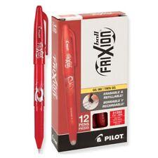 31552 Pilot FriXion Ball Erasable Gel Pen, Fine Pt 0.7mm, Red Ink, Pack of 12