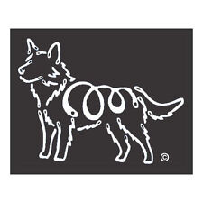 Australian Cattle Dog K-Lines Dog Car Window Tattoo Decal Sticker