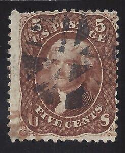 75, 5 CENT RED BROWN!, SCOTT $450.00