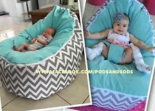 BABY BEAN BAG -LARGE SIZE CHAIR WITH HARNESS for Newborn Bubs through Teen Years