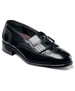 Florsheim Men Kiltie Tassel Wingtip Loafer Lexington Size US 13D Black Leather