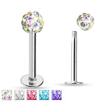 Ferido Ball Surgical Steel Helix Tragus Lip Piercing Labret Stud Ring 16g 1/4""