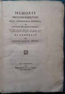 SCONTO DEL 20%/SETTECENTINE/MILITARIA: ZENNER, MEMORIE METAFISICO-MILITARI. 1799