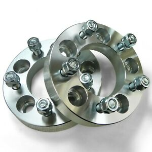 """Pair 5x5 127 Wheel Spacers 1.5"""" Thick 1/2 Lug Buick LeSabre Cadillac Chevy C10"""