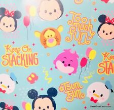 Tsum Tsum Disney Fiends Wrapping Paper Sheet Gift Book Cover Party 2 Sheets Blue