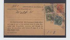 Admiral issue $1.00+2c+ 2x20c 1927 - 281 circulars Canada