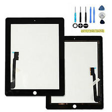 Replacement Screen Glass Digitizer Display for iPad 3 & iPad 4 Black +Free Tools