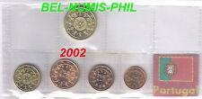 PORTUGAL 2002 - 5 Munten/Monnaies uit het zakje - UNC!!!