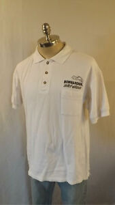 VTG Ski Doo Bombardier Snowmobile Polo Shirt sz M Embroidered