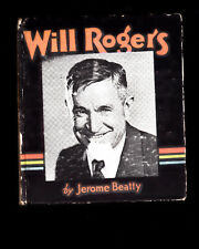 Will Rogers by Jerome Beatty 1935 Saalfield Hardcover (BLB)