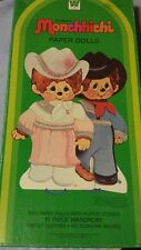 Vintage Monchhichi paper dolls with original box