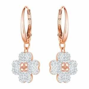 Genuine SWAROVSKI Latisha Rose Gold Tone Flower Dropper Earrings 5420249