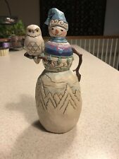 """Jim Shore Snowman """" Have A Hoot This Winter�"""