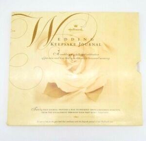 Vintage Hallmark Wedding Keepsake Journal Memory Book 64 Pages Ivory