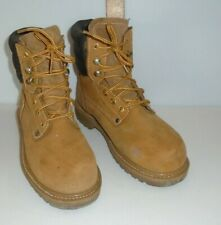 Mens Sears Work Boot Sz 7.5 D Orange Brown Split Leather Upper