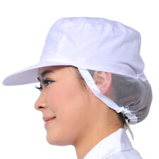 White Catering Hat Chef Baker Bouffant Cap Food Sanitary Cap Working Hat Durable